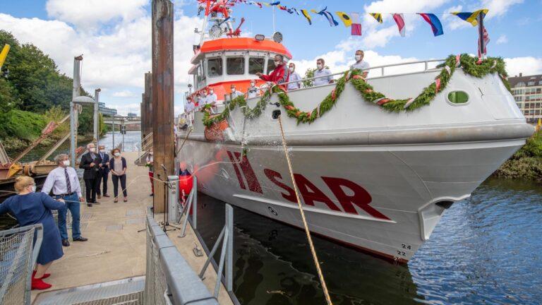 Taufe Seenotrettungskreuzer Hamburg